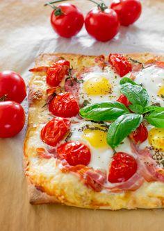 #Recipe: Pancetta and Gruyere Breakfast #Pizza