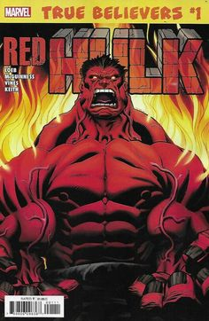 Red Hulk Comic Issue 1 Classic Reprint True Believers 2019 Loeb McGuinness Vines