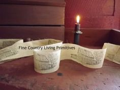 Primitive Country Christmas Log Cabin Ribbon Garland 8 feet long for your Christmas tree!  www.finecountrylivingprimitives.com