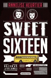 """Sweet Sixteen  Annelise Heurtier  Editions Casterman      """"Rentrée 1957. Le plus prestigieux lycée de l'Arkansas ouvre pour la première fois ses portes à des étudiants noirs. Ils sont neuf à tenter l'aventure. Ils sont deux mille cinq cents, prêts à tout pour les en empêcher."""""""