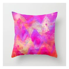 Society6 Bold Quotation, Revisited - Intense Raspberry Peac… Throw... ($20) ❤ liked on Polyvore featuring home, home decor, throw pillows e ikat throw pillows