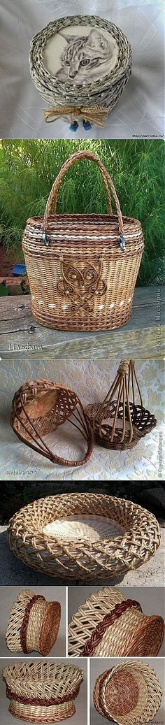 Do it yourself also known as DIY is the method of building modifying or repairing something without the aid of experts or professionals Straw Weaving, Paper Weaving, Basket Weaving, Newspaper Basket, Newspaper Crafts, Hobbies And Crafts, Crafts To Make, Pine Needle Baskets, Willow Weaving