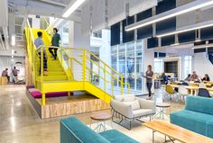 Vivid Office Space by Studio O+A color office playfulness design
