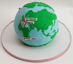 Globe Birthday Cake | Hiking the World Globe Cake