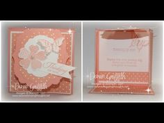 Label Flap Triple Fold card with Dawn - YouTube