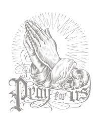 how to draw praying hands with cross step by step