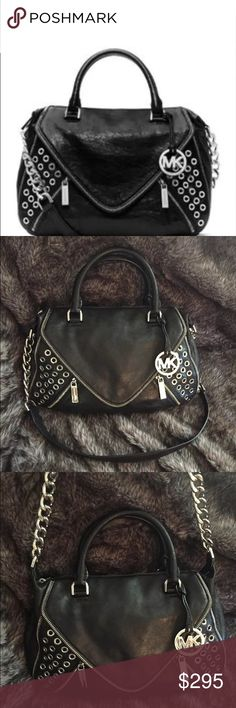 Michael Kors Odette Stunning lamb skin leather Odette with grommet detailing. Brand new without tags. Feel free to ask any questions! Original price &498.00. KORS Michael Kors Bags Satchels