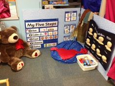 The Safe Place: A Self-Regulation Station by: Ignite Learning with Conscious Discipline LLC.LOVE the pocket chart board idea Classroom Behavior, Preschool Classroom, Preschool Activities, Emotions Preschool, Classroom Discipline, Preschool Learning, Infant Activities, Classroom Ideas, Kindergarten