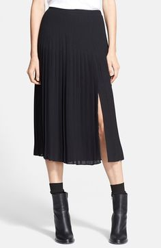 Vince+Pleated+Skirt+available+at+#Nordstrom