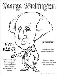 George Washington Coloring Page  Minus the word there, should be their.