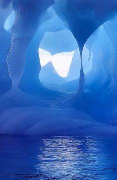 Blue Ice Cave | Blue Ice Cave, Antarctica..