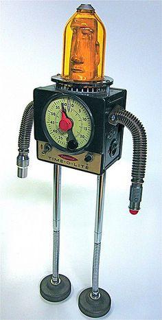 Tiki-time Tikibot found object junk art sculpture | Flickr - Photo Sharing!