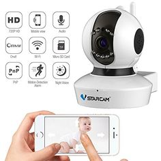 Wireless Camera Baby Monitor IP Camera WiFi Surveillance Camera HD 720P Nanny Cam with Pan Tilt Motion Detection Two Way Audio and Night Vision for Home Security System Vstarcam C7823WIP http://ift.tt/2tIBGKU