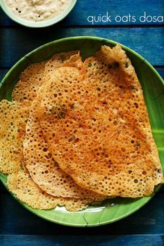 oats dosa recipe – quick, crisp and instant dosa made with oats. no fermentation required. #oats #dosa