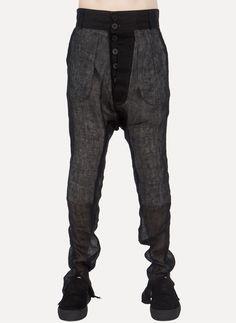 Cedric Jacquemyn | Dropcrotch Casual Pants| Found onCruvoir | Nicolai Spicher