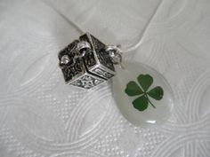 Real 4 Leaf Clover 3 In 1 Necklace-Pendant by giftforallseasons