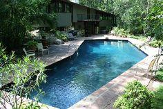 L-shaped backyard pool