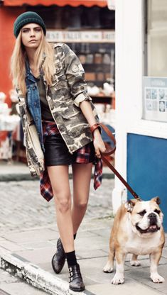 Cara Delevingne's grunge fashion with a little bit of edge..