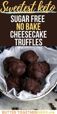 These easy and delicious cheesecake truffles from Butter Together Kitchen will satisfy any sweet tooth craving you may have! They are the perfect dessert for any party! Add your own touch and dress these truffles up for your next special occasion! #ketotruffle #ketodessert #ketocheesecaketruffles #ketocheesecake #keto #lowcarb #sugarfree #chocolate #easyrecipe Keto Foods, Ketogenic Desserts, Keto Friendly Desserts, Keto Snacks, Sugar Free Cheesecake, Sugar Free Desserts, Sugar Free Recipes, Keto Recipes, No Bake Cheesecake