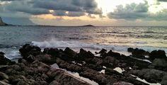 Everyone has a #lover #Barcarello #Palermo #sea #cloud #sky #rocks #waves