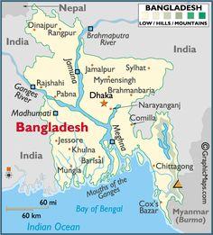 Bangladesh map.