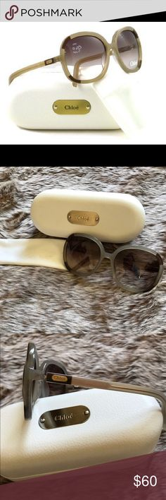 Chloé Sunglasses Gently used Chloé CL 2189 Tortoise Shell sunglasses. Comes with Chloé case and cleaning cloth. No scratches or imperfections on lenses.                                          FRAME- MINK LENSE- GRADIENT    FRAME SIZE EYE 60MM BRIDGE 18MM TEMPLE 135MM Chloe Accessories Sunglasses