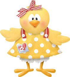 """Photo from album """"Sunny Side Up"""" on Yandex. Chicken Crafts, Chicken Art, Chickens And Roosters, Clip Art, Cute Clipart, Paper Tags, Vintage Easter, Cute Characters, Paper Piecing"""