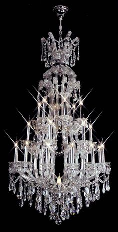 Custom made foyer chandelier polished chrome 24+1 lightsCW-773682