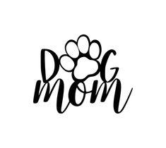 Dog Mom Metal Wall Decor - 15 / Black