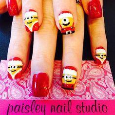 minions christmas by pinknailgal #nail #nails #nailart