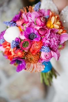 Summer Wedding Bouquet - Jeanine Thurston Photography