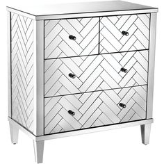 ELK Home Chatelet 4 Drawer Chest Herringbone Clear Mirror Finish Sterling Homes, Black Drawers, Mirrored Furniture, Bedroom Furniture, Chest Furniture, Cabinet Furniture, Furniture Outlet, Online Furniture, Mirror Cabinets