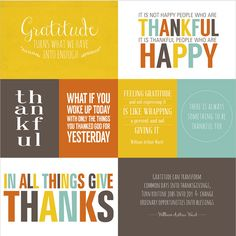 Printable quotes about #Gratitude #Thankfulness.