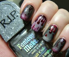 Halloween Nail Art - Zombie Nails! | Pointless Cafe @pointlesscafe