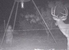 Photo: we posted this one a while back but lets see what yall think about this trail cam photo.. Freaky!!! lol