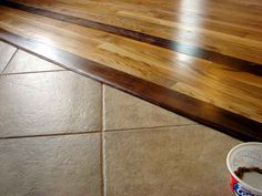 ceramic tile and hardwood floor combinations | ... Do You Handle Transition From Hardwood To Cut Tile With No Moulding