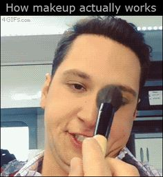 How make-up works [Gif] - Bored be gone.
