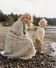 Elizabeth Mitchell with her son - 2008