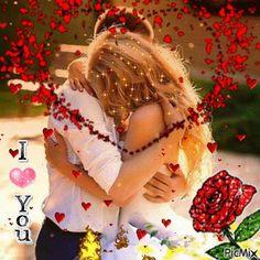 Animated Gif by Eva Fodorne Beautiful Romantic Pictures, Romantic Gif, Beautiful Gif, Romantic Love Quotes, Romantic Couples, Good Night I Love You, Love You Gif, You Dont Love Me, Love You Images
