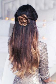 Le half-bun rosace hair