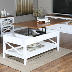 Country Chic White Wood Square Coffee Table With Lift Top | Living Room  Furniture | Pinterest | Square Coffee Tables, White Wood And Country Chic