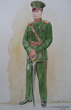 Paraguayan Army infantry officers' service dress uniform during the 1932-1935 Chaco War.