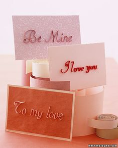 Quilling Stationery  Shape strips of paper to create 3-D calligraphy that relays a sweet message to your loved one.