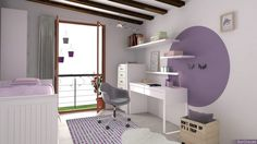 Rincón de estudio infantil #decoracioninfantil #zonadeestudio Loft, Bed, Furniture, Home Decor, Organize, Studio, Lofts, Stream Bed, Interior Design