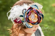 Couture Headband: Made to match fall Matilda Jane/ shabby chic headband/ lace headband/whimsical headband