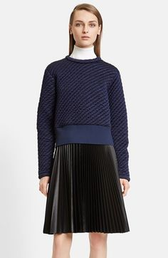 Cedric Charlier Quilted Jersey Top