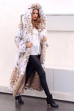 Lynx Fur Hooded Coat