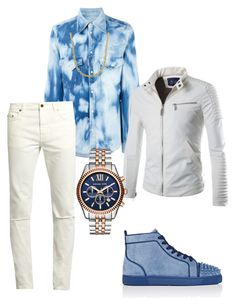 Untitled #3639 by styledbycharlieb on Polyvore featuring polyvore Dsquared2 Yves Saint Laurent Christian Louboutin Michael Kors Lord & Taylor men's fashion menswear clothing
