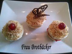 Frankfurter Kranz Cupcakes mit Schokodeko