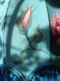 detail of handpainted lampshade Drawstring Backpack, Hand Painted, Backpacks, Detail, Bags, Handbags, Backpack, Backpacker, Bag